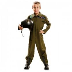 Disfraz de piloto de la armada para niño - Imagen 1
