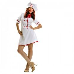 Disfraz de cocinera para mujer - Imagen 1