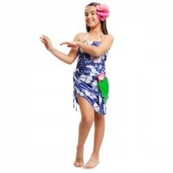 Disfraz de hawaiana tropical para niña - Imagen 1