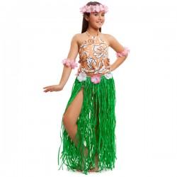 Dsifraz de hawaiana hula para niña - Imagen 1