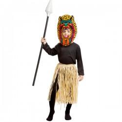 Disfraz de guerrero Zulu para niño - Imagen 1