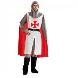 Disfraz de caballero templario para hombre - Imagen 1