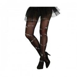 Pantys negras con costuras para mujer - Imagen 1