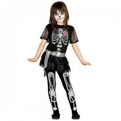 Disfraz de esqueleto día de los muertos para niña - Imagen 1