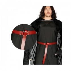 Cinturón medieval rojo para adulto - Imagen 1