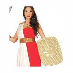 Escudo romano dorado para adulto - Imagen 1