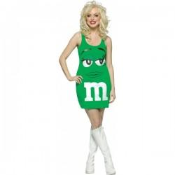 Disfraz de M&Ms Verde vestido - Imagen 1