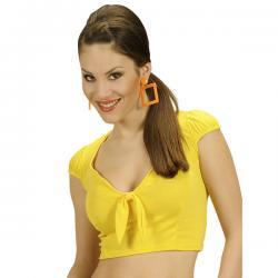 Top amarillo con lazo para mujer - Imagen 1