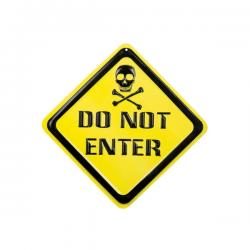"Cartel decorativo ""Do not enter"" - Imagen 2"