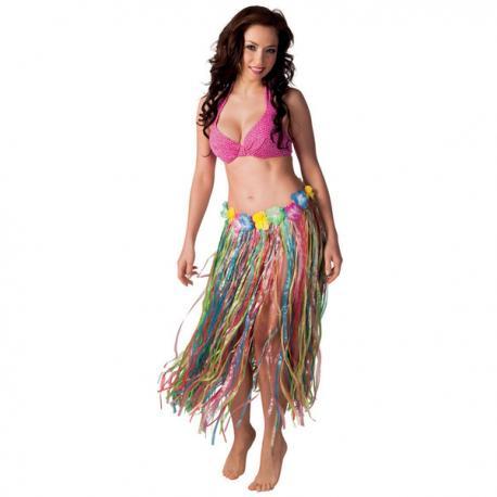 Falda hawaiana multicolor para mujer - Imagen 2