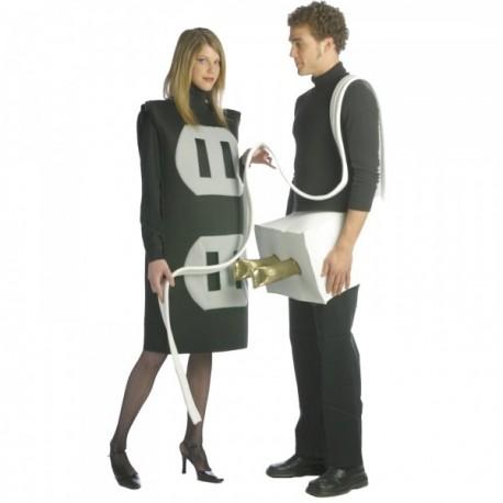 Disfraz de enchufe macho y hembra 2 en 1 para pareja - Imagen 1