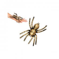 Figura decorativa de araña dorada - Imagen 2