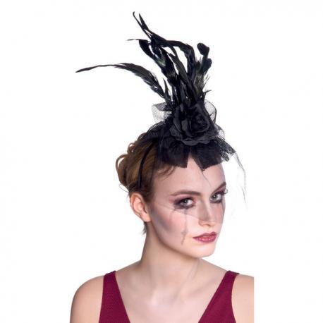 Tiara de viuda oscura para mujer - Imagen 2