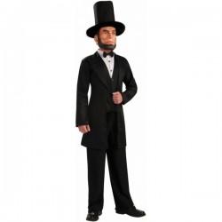 Disfraz de Abraham Lincoln con careta - Imagen 1