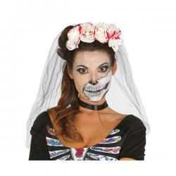 Velo de novia calavera para mujer - Imagen 1