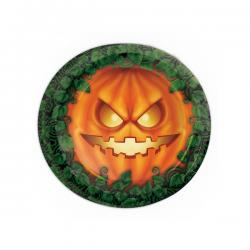 Set de 8 platos calabaza Halloween - Imagen 1
