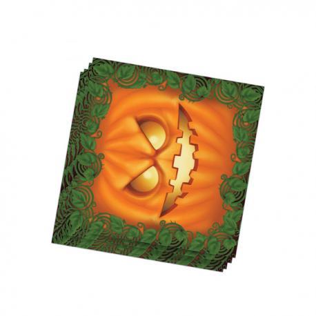 Set de 20 servilletas calabaza Halloween - Imagen 1