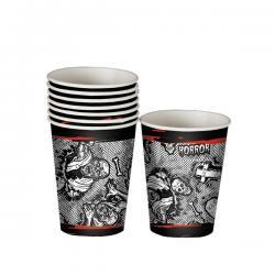 Set de 8 vasos Halloween zombie - Imagen 1