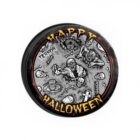 Set de 8 platos Halloween zombie - Imagen 1