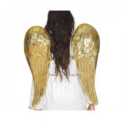 Alas de ángel doradas para adulto - Imagen 1