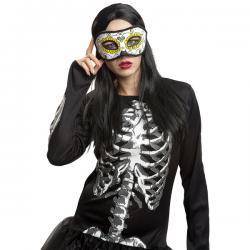 Antifaz de muerte mejicana para mujer - Imagen 1