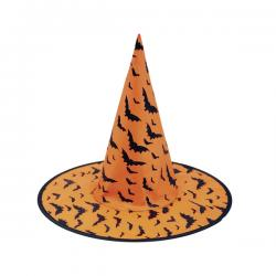 Sombrero de bruja con murciélagos - Imagen 1