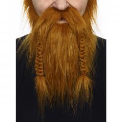 Barba y bigote castaña vikinga para adulto - Imagen 2