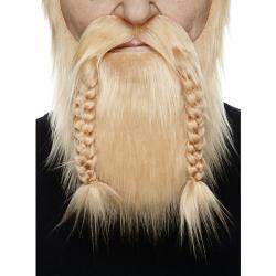Barba y bigote rubia vikinga para adulto - Imagen 2