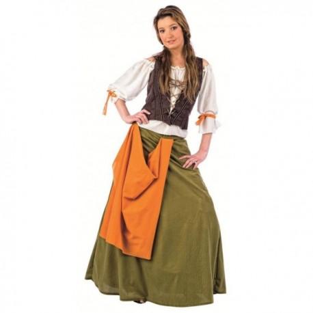 Disfraz de tabernera medieval Agnes - Imagen 1