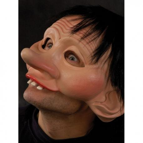Media máscara de niño simplón para adulto - Imagen 2