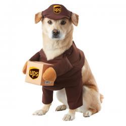 Disfraz de repartidor de UPS para perro - Imagen 1