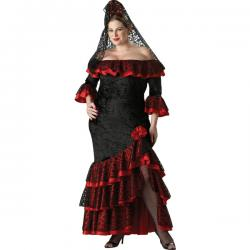 Disfraz de goyesca para mujer talla grande - Imagen 1