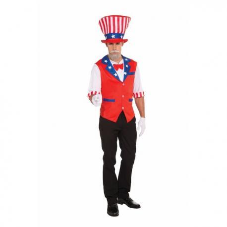 Kit disfraz del Tio Sam para hombre - Imagen 1