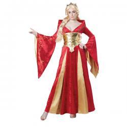 Disfraz de reina roja para mujer - Imagen 1