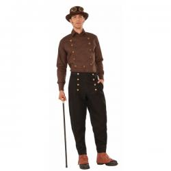 Pantalón negro Steampunk para hombre - Imagen 1