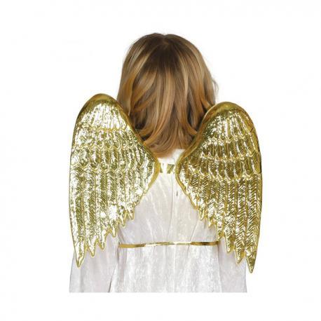 Alas de ángel doradas infantiles - Imagen 1