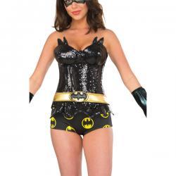 Corsé de Batgirl brillante para mujer - Imagen 1