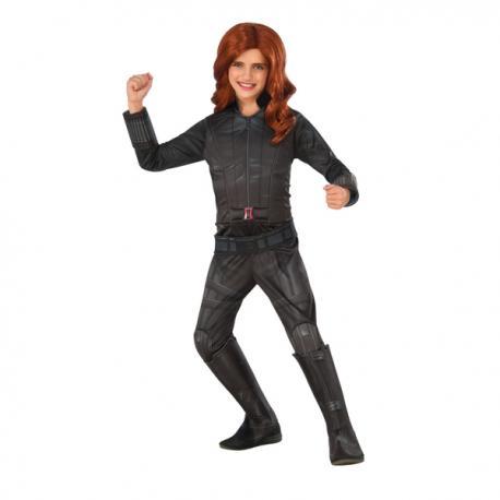 Disfraz de Viuda Negra Capitán América Civil War deluxe para niña - Imagen 1