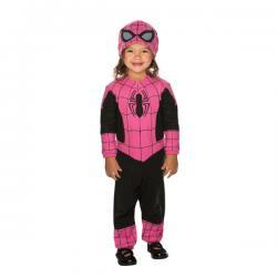 Disfraz de Spidergirl rosa para bebé - Imagen 1
