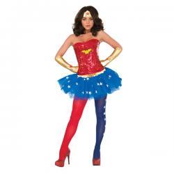 Corsé de Wonder Woman deluxe para mujer - Imagen 1