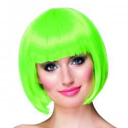 Peluca corta verde neón para mujer - Imagen 1