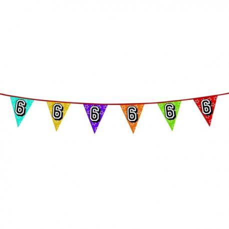 Banderines con número 6 - Imagen 1
