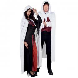 Capa con capucha blanca para adulto - Imagen 1