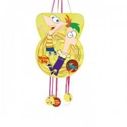 Piñata silueta  Phineas y Ferb - Imagen 1