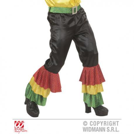 Pantalón negro de rumbero con lentejuelas para hombre talla grande - Imagen 1