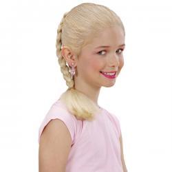 Extensión trenza rubia para niña - Imagen 1