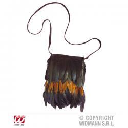 Bolsa de indio con plumas para adulto - Imagen 1