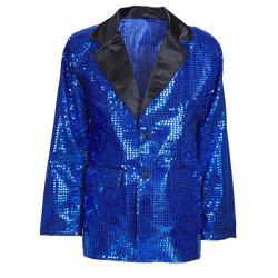 Chaqueta azul de lentejuelas para hombre - Imagen 1