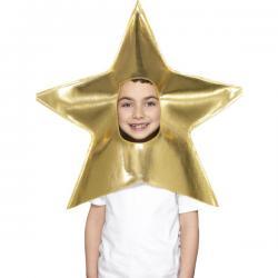 Gorro de estrella navideña infantil - Imagen 1