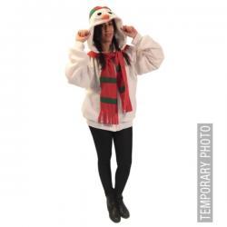Chaqueta de muñeco de nieve calentito talla grande para adulto - Imagen 1